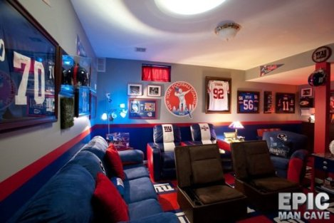 A typical NFL Man-Cave -http://www.epicmancave.net/man-cave-gallery/